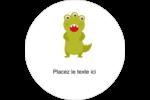 Monstres mignons Étiquettes arrondies - gabarit prédéfini. <br/>Utilisez notre logiciel Avery Design & Print Online pour personnaliser facilement la conception.