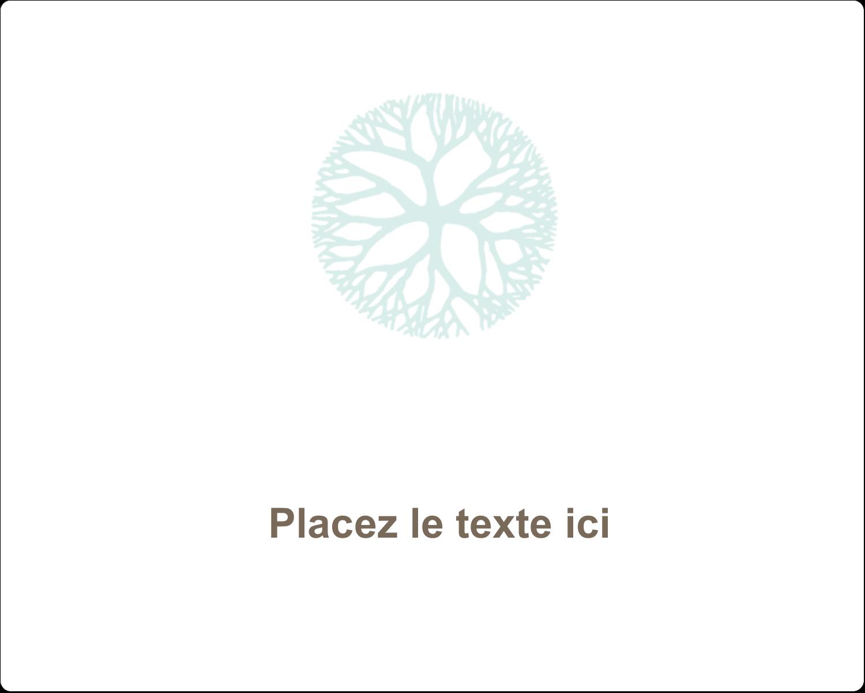 """2"""" Diameter Étiquettes rondes gaufrées - Fleur créative"""