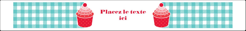 """9¾"""" x 1¼"""" Étiquettes enveloppantes - Ensemble pour petits gâteaux"""