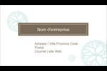 Fleur créative Carte d'affaire - gabarit prédéfini. <br/>Utilisez notre logiciel Avery Design & Print Online pour personnaliser facilement la conception.