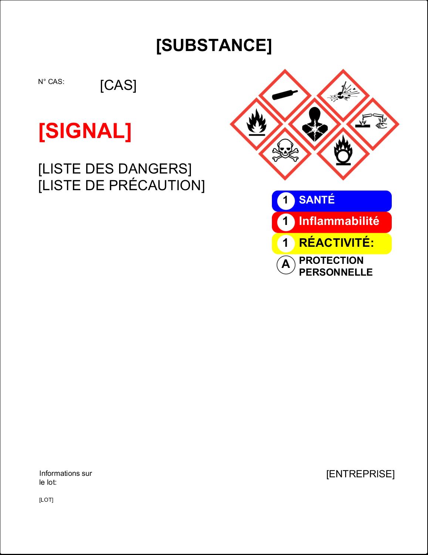 """4¾"""" x 7¾"""" Étiquette Industrielles - Assistant SGH"""