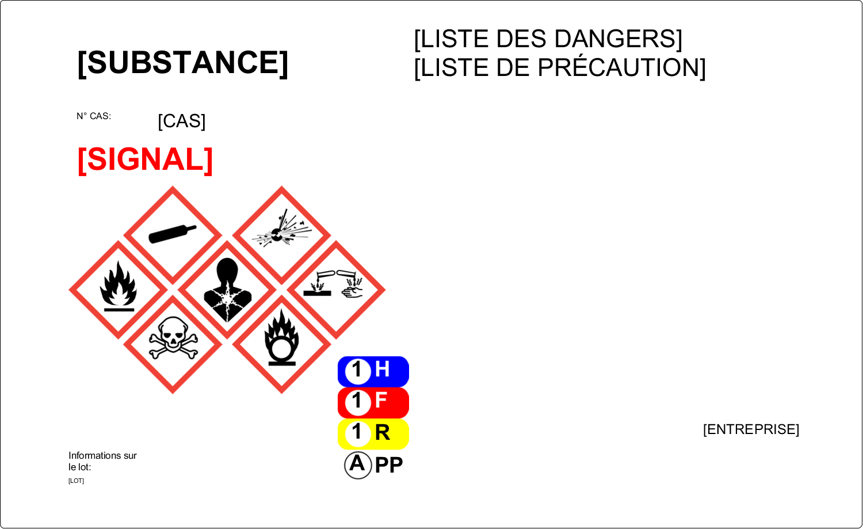 """3½"""" x 5"""" Étiquette Industrielles - Assistant SGH"""
