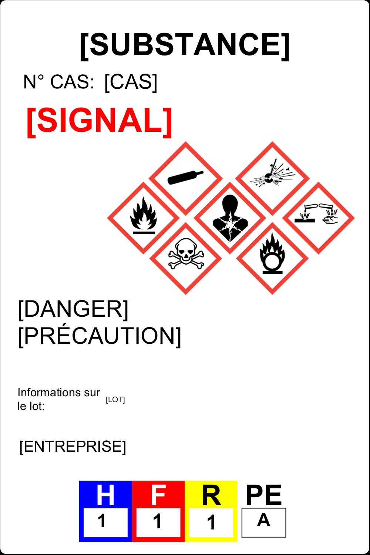 """3½"""" x 1-1/32"""" Étiquette Industrielles - Assistant SGH"""