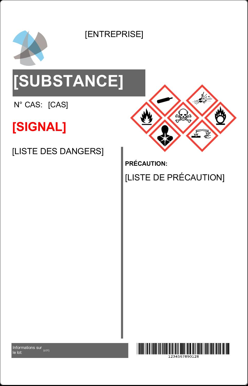 """3½"""" x 4½"""" Étiquette Industrielles - Assistant SGH"""
