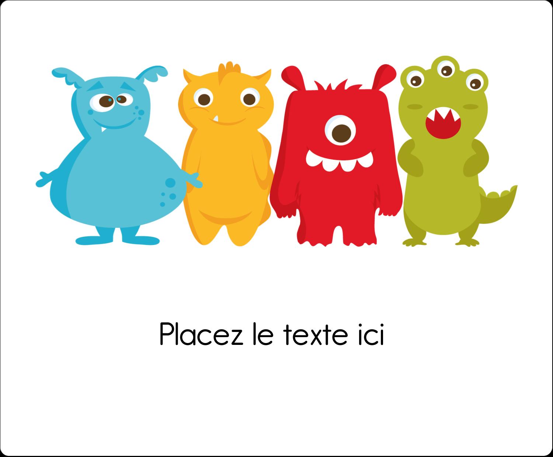 """3⅓"""" x 4"""" Étiquettes d'expédition - Monstres mignons"""