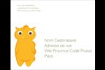Monstres mignons Étiquettes d'expédition - gabarit prédéfini. <br/>Utilisez notre logiciel Avery Design & Print Online pour personnaliser facilement la conception.