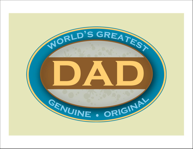 "11"" x 8½"" T-Shirt-Tranfers - World`s Greatest Dad"