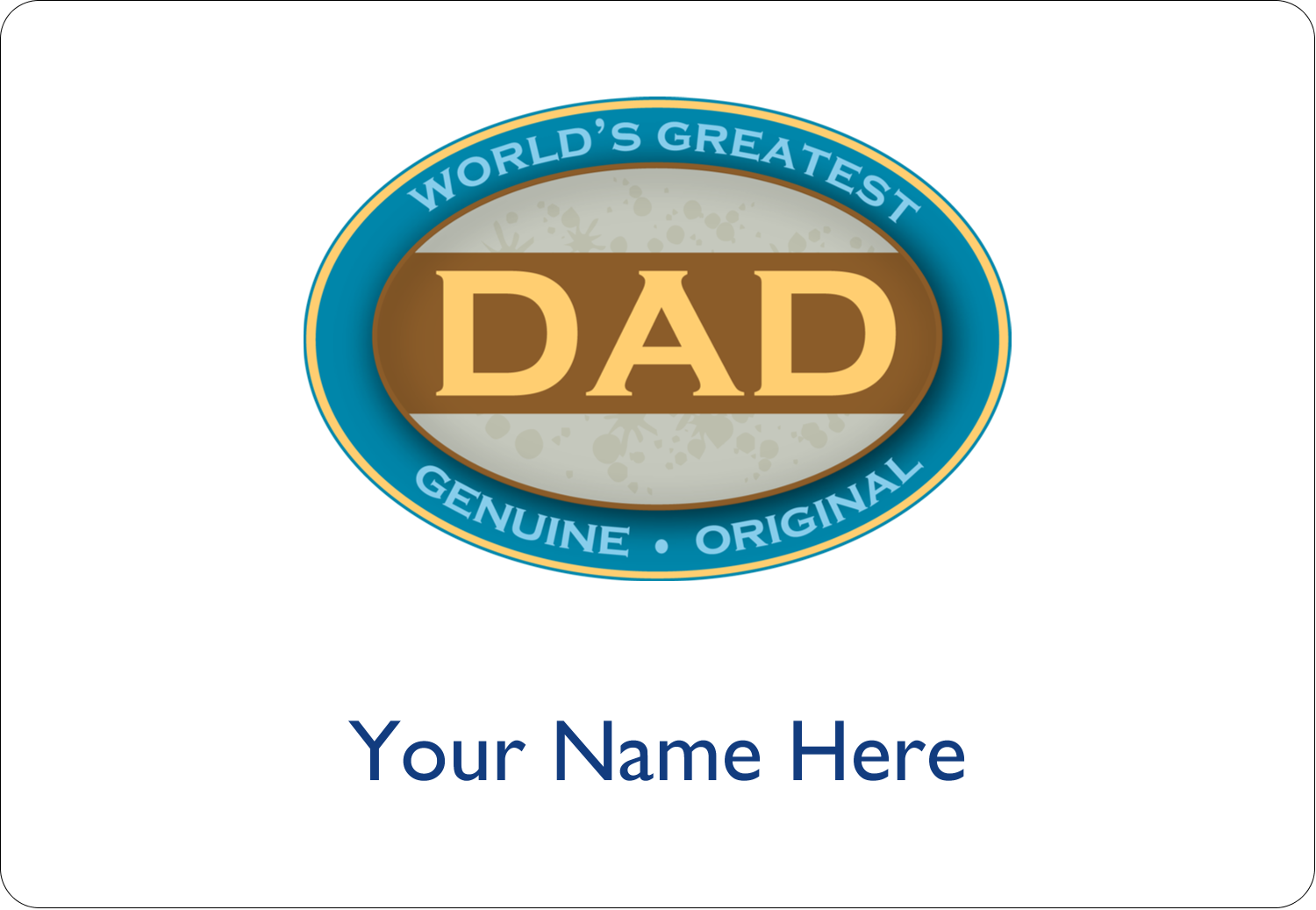 """3⅜"""" x 2⅓"""" Name Tags - World`s Greatest Dad"""