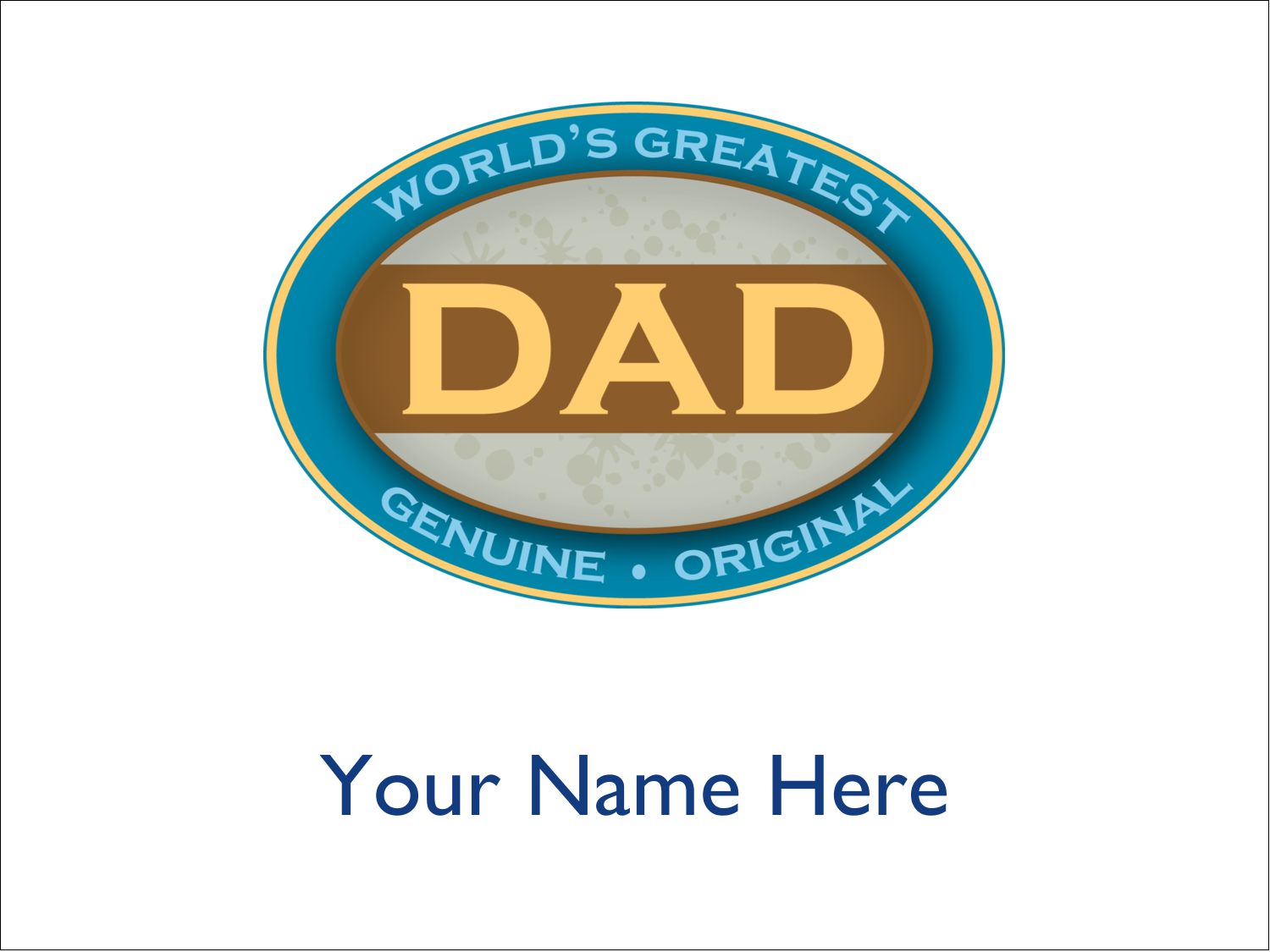 "4"" x 3"" Name Tags - World`s Greatest Dad"