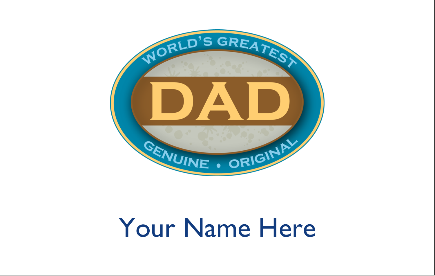 "2¼"" x 3½"" Name Tags - World`s Greatest Dad"