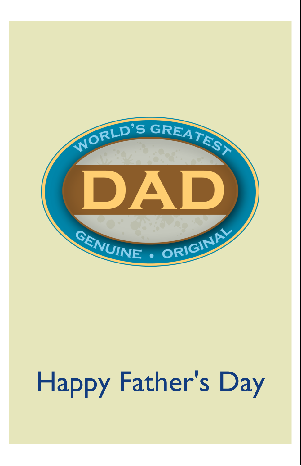 "5"" x 8½"" Half Fold Card - World`s Greatest Dad"