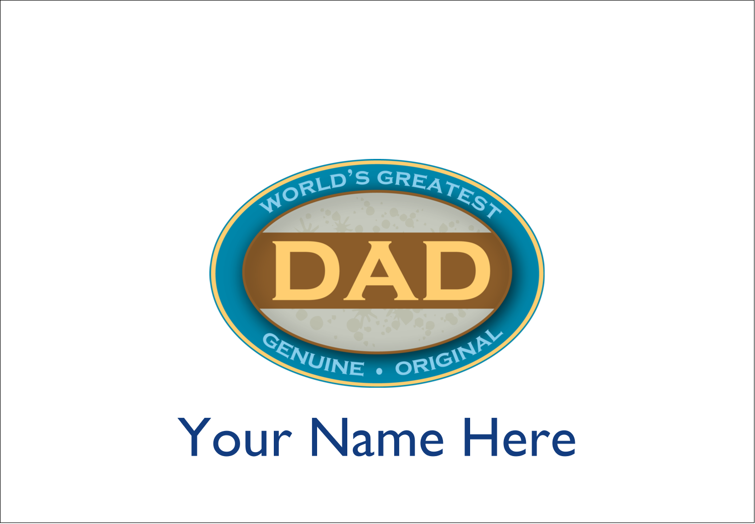 "2⅓"" x 3⅜"" Name Badge - World`s Greatest Dad"