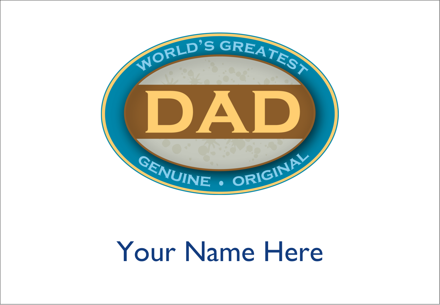 "2-11/12"" x 3⅜"" Name Badge Label - World`s Greatest Dad"