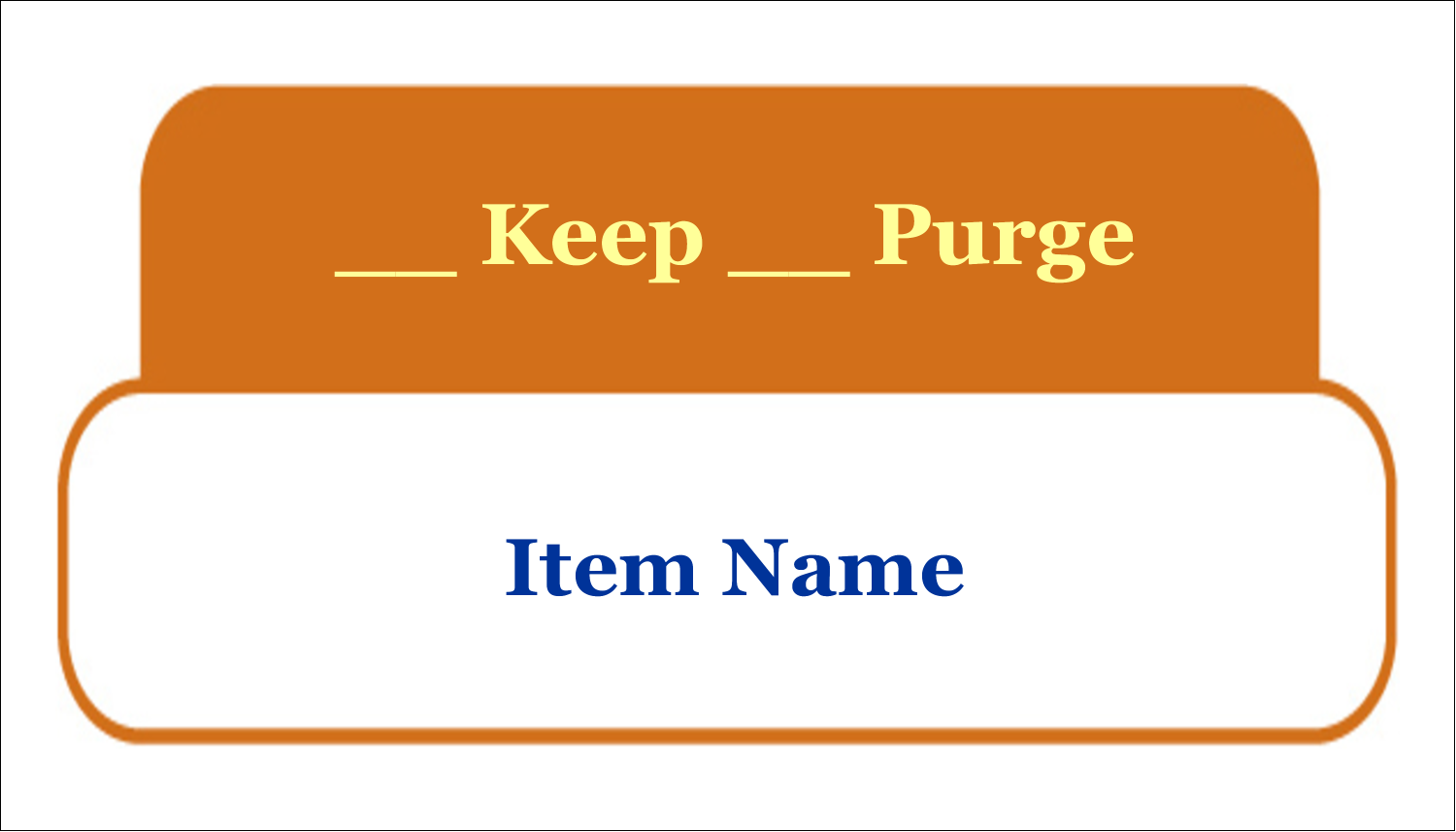 x  Multi-Purpose Labels - Workstation Clean Up