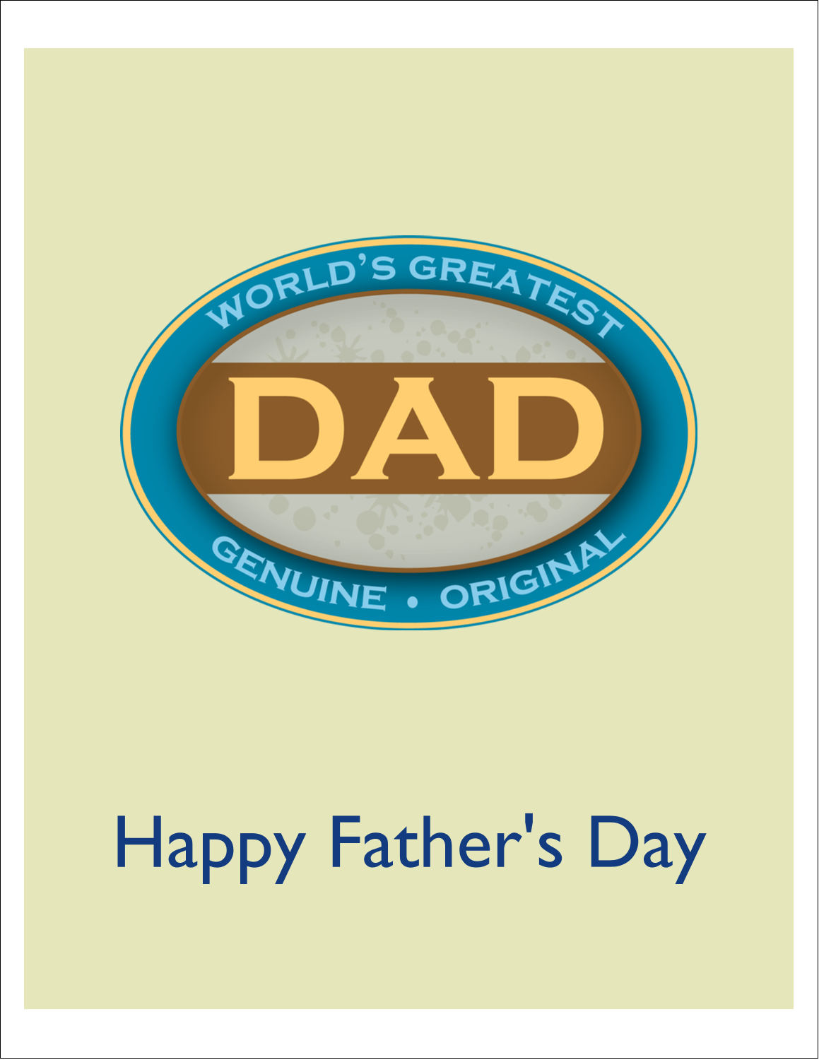 """4¼"""" x 5½"""" Note Card - World`s Greatest Dad"""