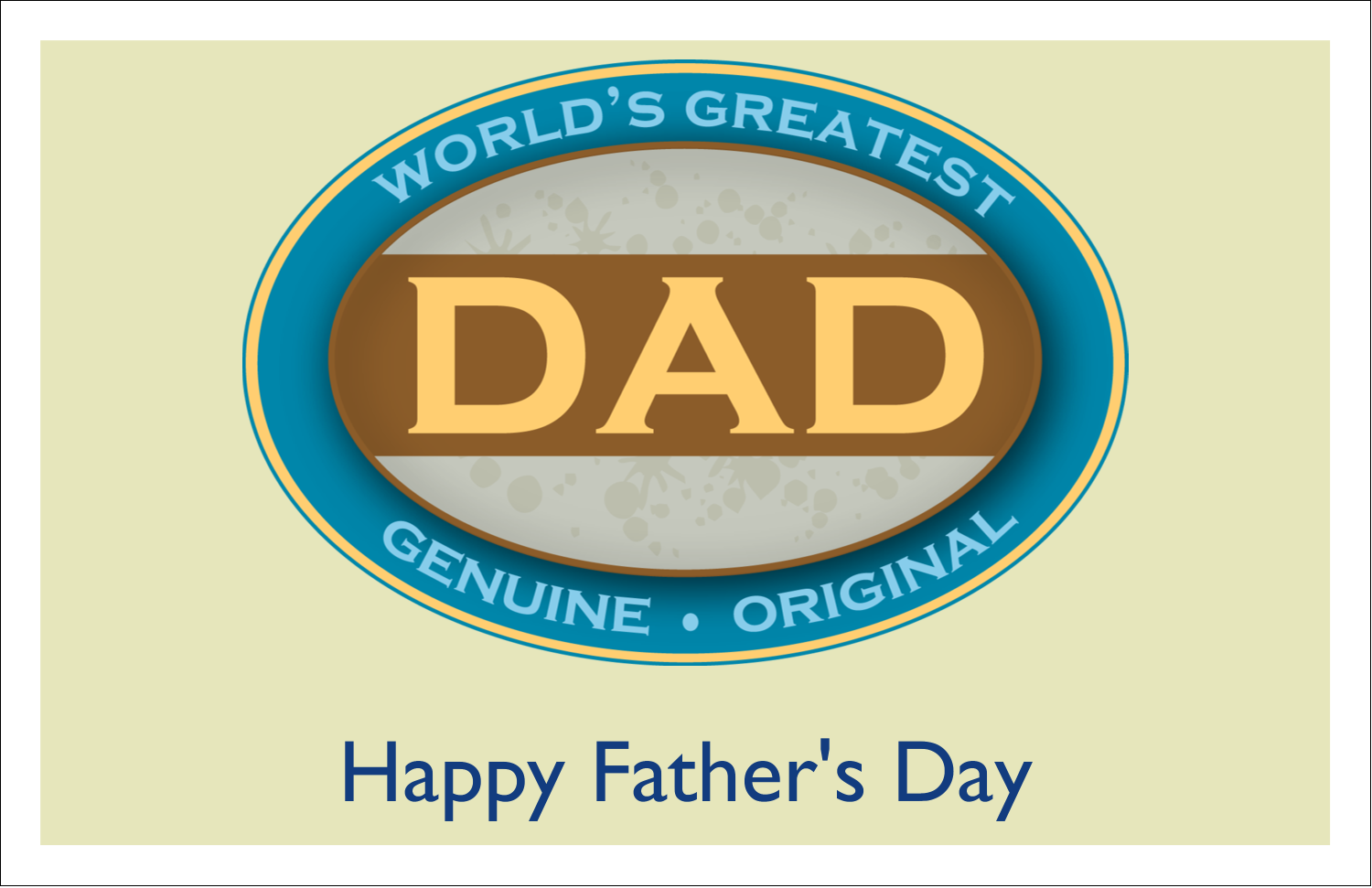 "5½"" x 8½"" Greeting Card - World`s Greatest Dad"