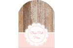 Give Mother's Day projects a fun twist with pink cut-outs with a rustic wood background.