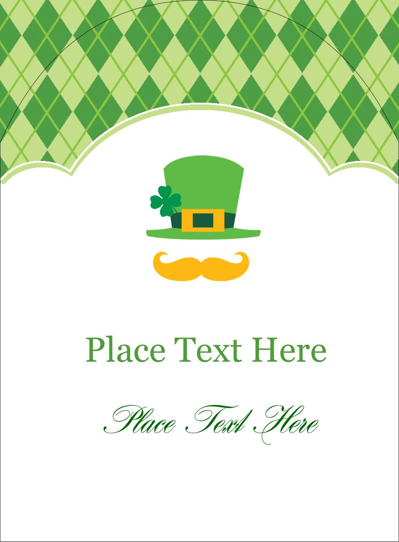 """4¾"""" x 3½"""" Arched Label - St. Patrick"""