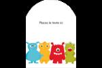 Monstres mignons Étiquettes rectangulaires - gabarit prédéfini. <br/>Utilisez notre logiciel Avery Design & Print Online pour personnaliser facilement la conception.
