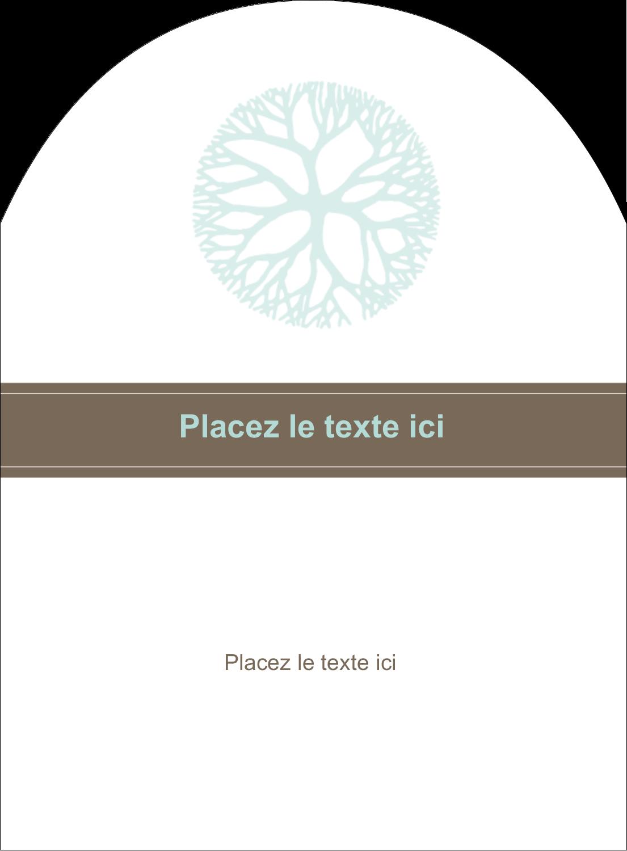 """4¾"""" x 3½"""" Étiquettes rectangulaires - Fleur créative"""