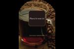 Tasse de café Étiquettes rectangulaires - gabarit prédéfini. <br/>Utilisez notre logiciel Avery Design & Print Online pour personnaliser facilement la conception.