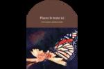 Papillon perché Étiquettes rectangulaires - gabarit prédéfini. <br/>Utilisez notre logiciel Avery Design & Print Online pour personnaliser facilement la conception.