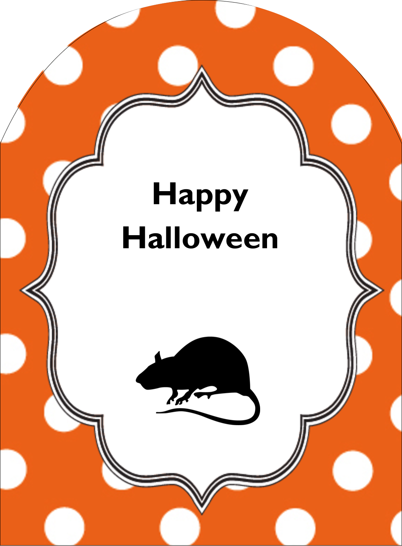 """4¾"""" x 3½"""" Arched Label - Kiddie Halloween"""
