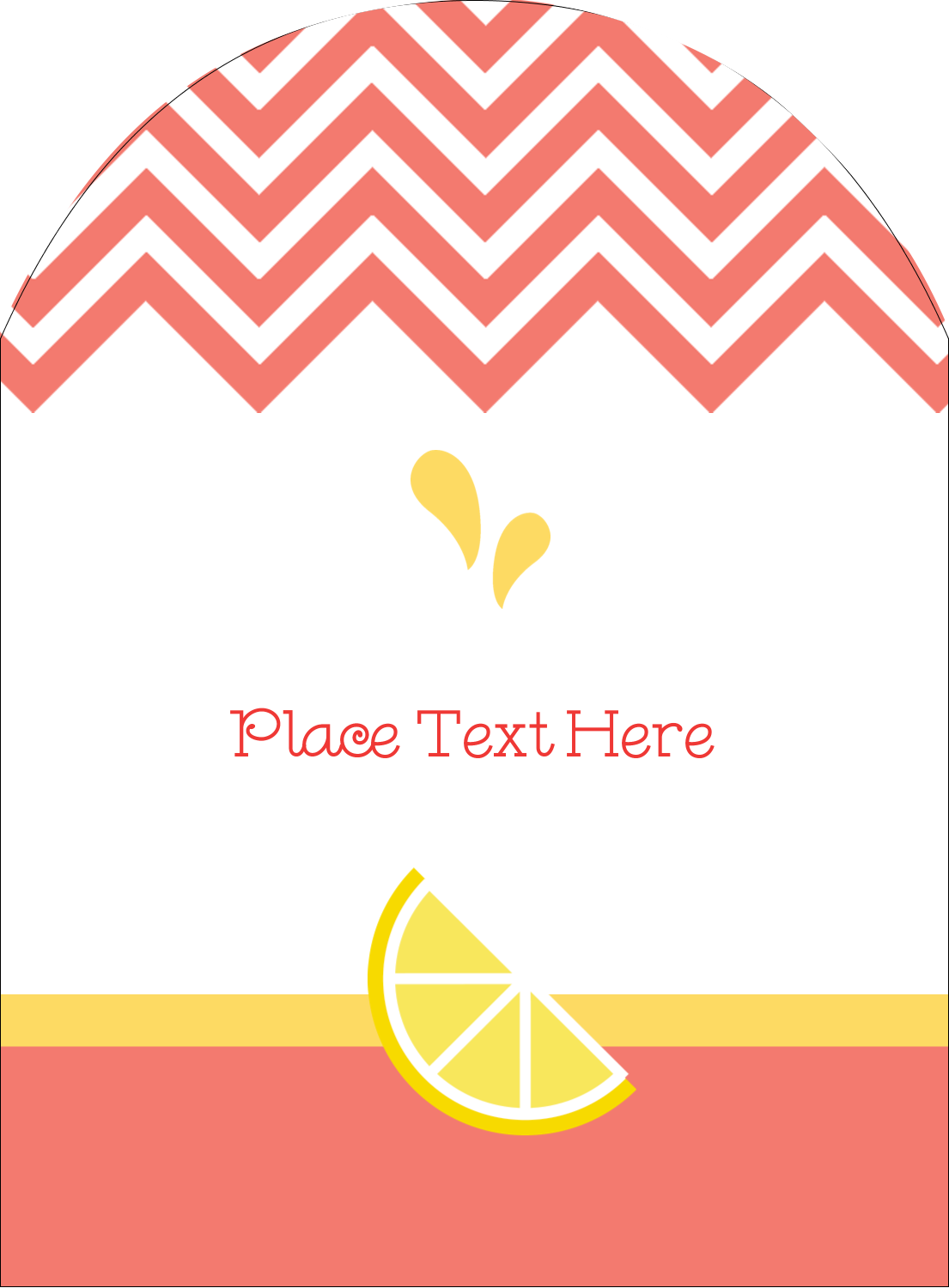 "4¾"" x 3½"" Arched Label - Fruit Pink"