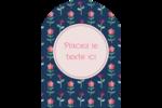 Fleurs délicates Étiquettes rectangulaires - gabarit prédéfini. <br/>Utilisez notre logiciel Avery Design & Print Online pour personnaliser facilement la conception.