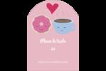 Amours, délices et café Étiquettes rectangulaires - gabarit prédéfini. <br/>Utilisez notre logiciel Avery Design & Print Online pour personnaliser facilement la conception.