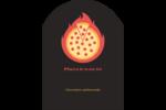 Pizza ardente Étiquettes rectangulaires - gabarit prédéfini. <br/>Utilisez notre logiciel Avery Design & Print Online pour personnaliser facilement la conception.