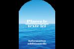 Ciel-océan Étiquettes rectangulaires - gabarit prédéfini. <br/>Utilisez notre logiciel Avery Design & Print Online pour personnaliser facilement la conception.