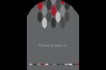 Hexagone rouge Étiquettes rectangulaires - gabarit prédéfini. <br/>Utilisez notre logiciel Avery Design & Print Online pour personnaliser facilement la conception.