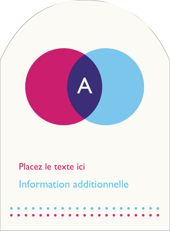 """4¾"""" x 3½"""" Étiquettes rectangulaires - Styliste"""