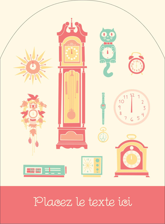 """4¾"""" x 3½"""" Étiquettes rectangulaires - Horloges"""
