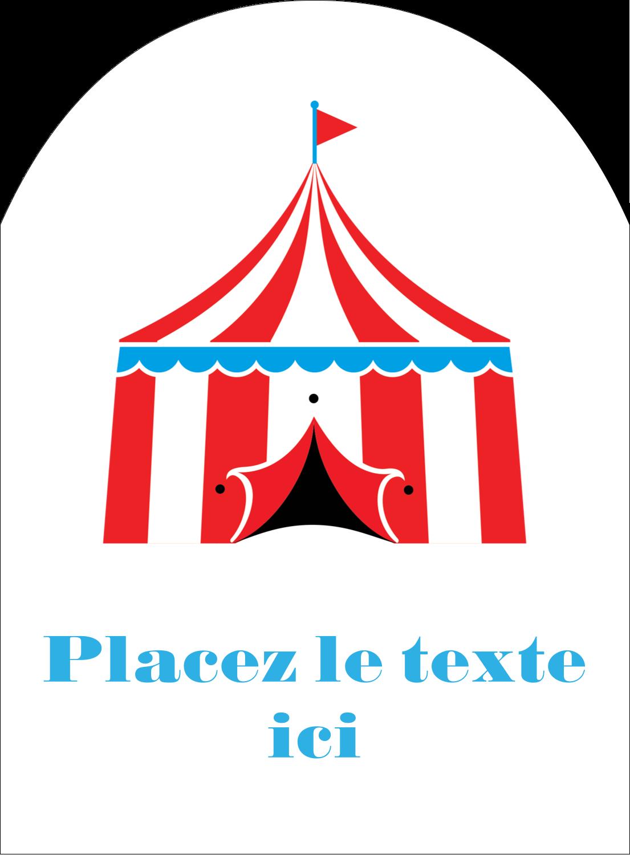 """4¾"""" x 3½"""" Étiquettes rectangulaires - Chapiteau de cirque"""