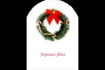 Couronne de Noël Étiquettes arrondies - gabarit prédéfini. <br/>Utilisez notre logiciel Avery Design & Print Online pour personnaliser facilement la conception.