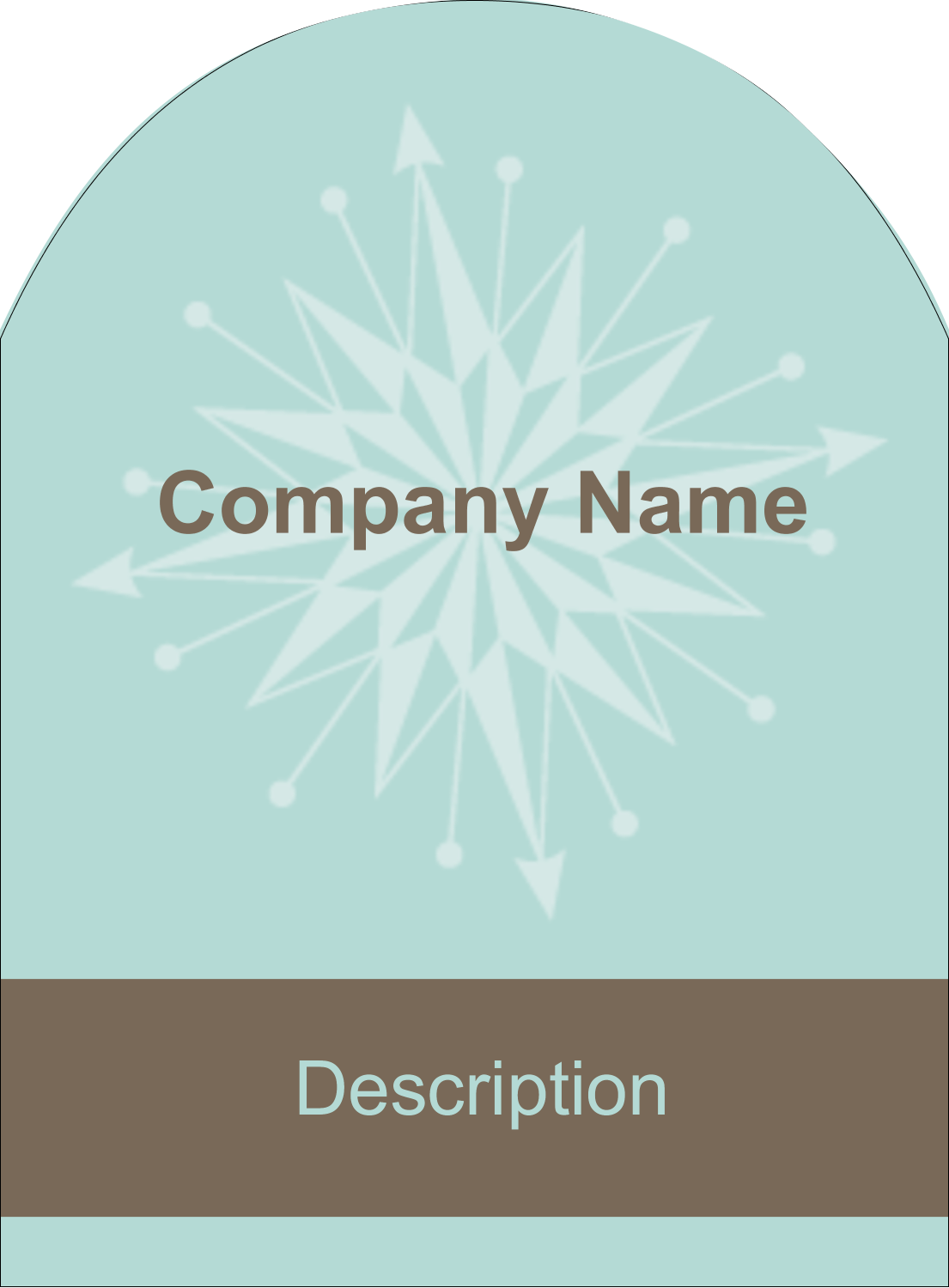 "4¾"" x 3½"" Arched Label - Creative Spark"