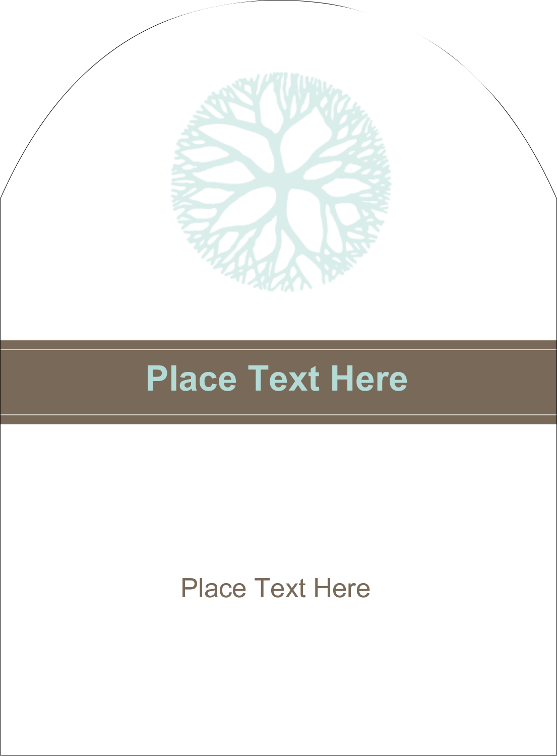 "4¾"" x 3½"" Arched Label - Creative Floral"