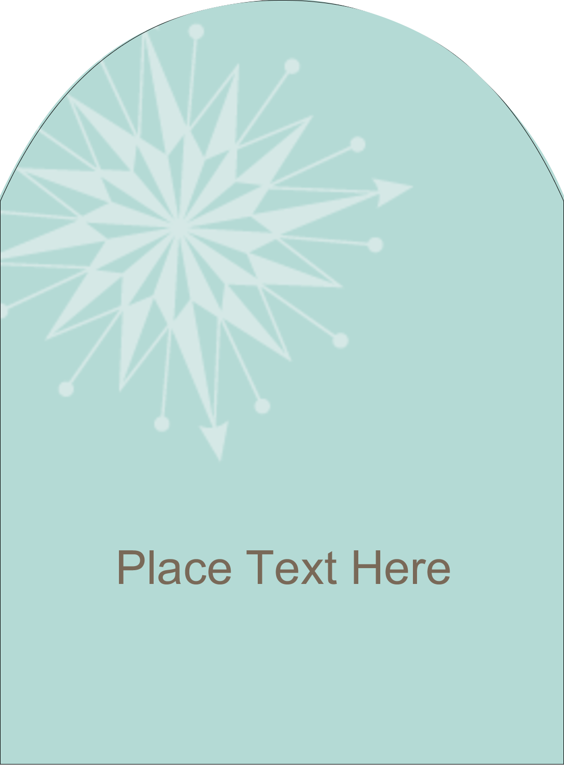 """4¾"""" x 3½"""" Arched Label - Creative Spark"""