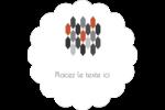 Hexagone orange Étiquettes festonnées - gabarit prédéfini. <br/>Utilisez notre logiciel Avery Design & Print Online pour personnaliser facilement la conception.