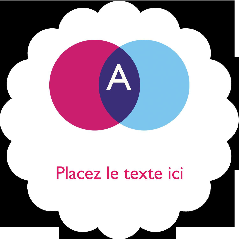 """2"""" Diameter Étiquettes festonnées - Styliste"""