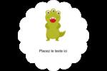 Monstres mignons Étiquettes festonnées - gabarit prédéfini. <br/>Utilisez notre logiciel Avery Design & Print Online pour personnaliser facilement la conception.