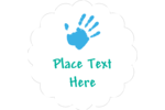 Playful pre-designed Childcare Hands templates work well for a variety of custom projects.