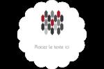 Hexagone rouge Étiquettes festonnées - gabarit prédéfini. <br/>Utilisez notre logiciel Avery Design & Print Online pour personnaliser facilement la conception.