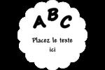 Enseignement préscolaire Étiquettes festonnées - gabarit prédéfini. <br/>Utilisez notre logiciel Avery Design & Print Online pour personnaliser facilement la conception.