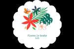 Plantes tropicales Étiquettes festonnées - gabarit prédéfini. <br/>Utilisez notre logiciel Avery Design & Print Online pour personnaliser facilement la conception.