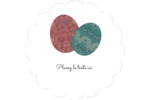 Tartan de Pâques Étiquettes festonnées - gabarit prédéfini. <br/>Utilisez notre logiciel Avery Design & Print Online pour personnaliser facilement la conception.