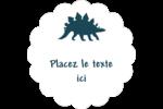 Dinosaure Étiquettes festonnées - gabarit prédéfini. <br/>Utilisez notre logiciel Avery Design & Print Online pour personnaliser facilement la conception.