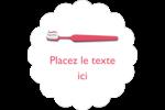 Soie dentaire Étiquettes festonnées - gabarit prédéfini. <br/>Utilisez notre logiciel Avery Design & Print Online pour personnaliser facilement la conception.